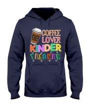 Coffee Lover Kinder Teacher Hooded Sweatshirt thumbnail