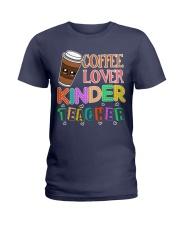 Coffee Lover Kinder Teacher Ladies T-Shirt thumbnail