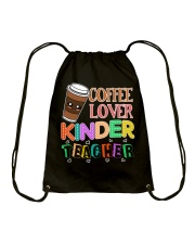 Coffee Lover Kinder Teacher Drawstring Bag thumbnail