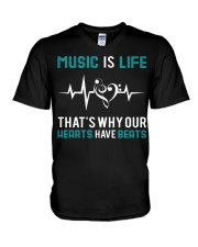 Music is Life V-Neck T-Shirt thumbnail
