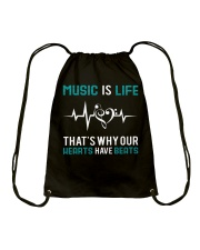 Music is Life Drawstring Bag thumbnail