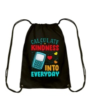 Calculate kindness into every day Drawstring Bag thumbnail