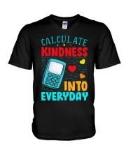 Calculate kindness into every day V-Neck T-Shirt thumbnail