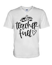 Teacher Fuel V-Neck T-Shirt thumbnail