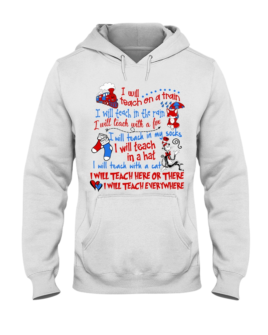 I will Teach  Hooded Sweatshirt