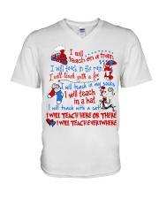 I will Teach  V-Neck T-Shirt tile