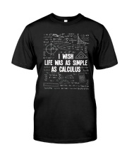 I WISH LIFE WAS AS SIMPLE AS CALCULUS Premium Fit Mens Tee thumbnail