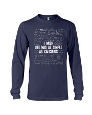 I WISH LIFE WAS AS SIMPLE AS CALCULUS Long Sleeve Tee tile