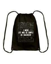 I WISH LIFE WAS AS SIMPLE AS CALCULUS Drawstring Bag front