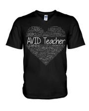 Avid Teacher V-Neck T-Shirt thumbnail