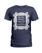 I Teach the Tiny Humans Ladies T-Shirt tile