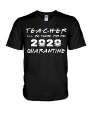 Teacher 2020 Quarantine V-Neck T-Shirt thumbnail