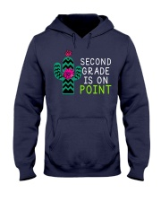Second grade is on point Hooded Sweatshirt thumbnail