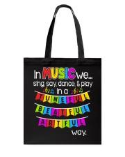 Music Sing Say Dance Play Tote Bag thumbnail