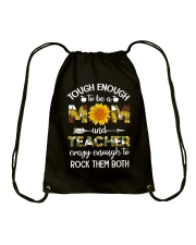 to be a Mom and Teacher Drawstring Bag tile