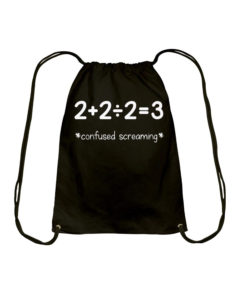 Confused Screaming Drawstring Bag