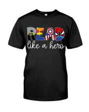 READ LIKE A HERO Classic T-Shirt thumbnail