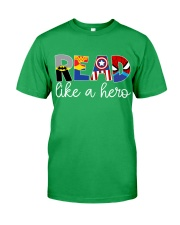 READ LIKE A HERO Classic T-Shirt front