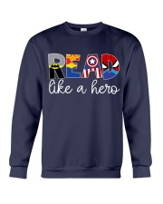 READ LIKE A HERO Crewneck Sweatshirt thumbnail