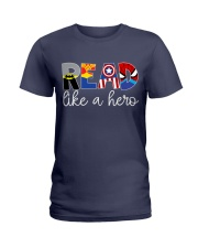 READ LIKE A HERO Ladies T-Shirt thumbnail