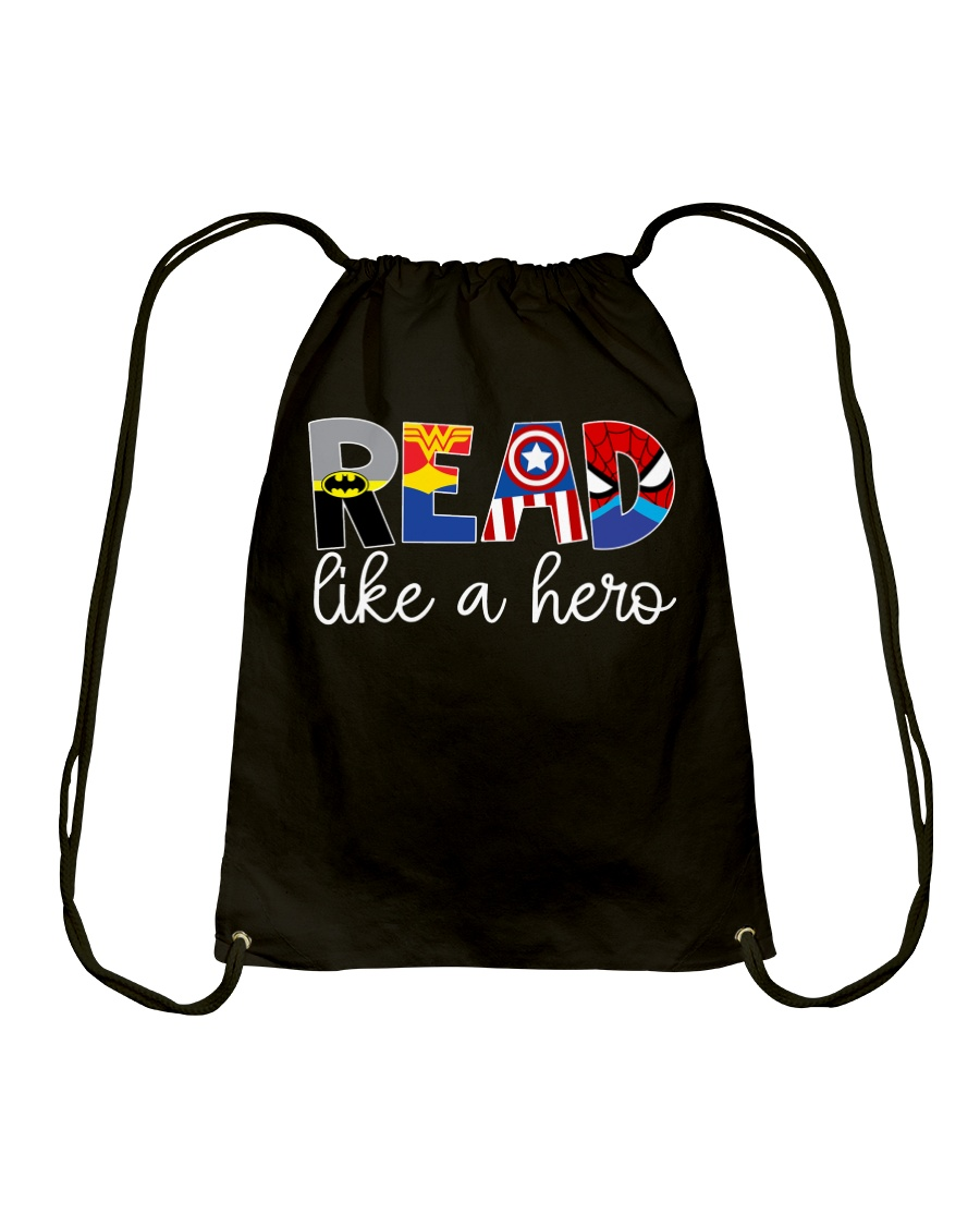 READ LIKE A HERO Drawstring Bag
