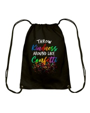 Throw kindness around like confetti Drawstring Bag thumbnail