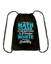 Math Class Drawstring Bag thumbnail