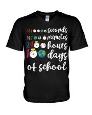 24 HOURS 100 DAYS OF SCHOOL V-Neck T-Shirt thumbnail