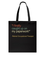 Retired Occupational Therapy Tote Bag thumbnail