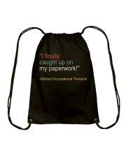 Retired Occupational Therapy Drawstring Bag thumbnail