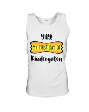 my first day of kindergaten Unisex Tank front