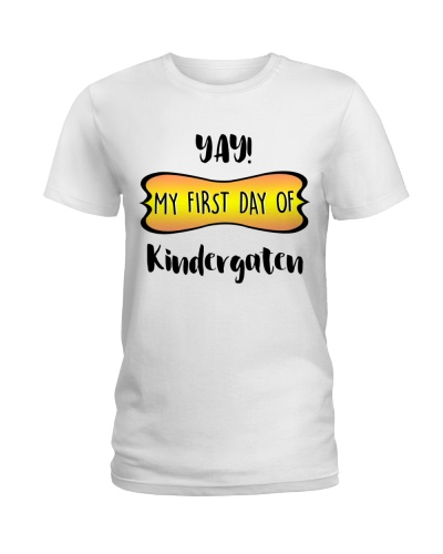 my first day of kindergaten