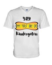 my first day of kindergaten V-Neck T-Shirt thumbnail