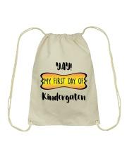 my first day of kindergaten Drawstring Bag thumbnail