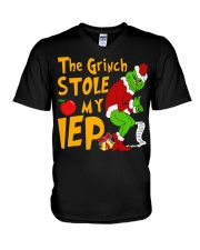 THE GRINCH STOLE MY IEP V-Neck T-Shirt thumbnail