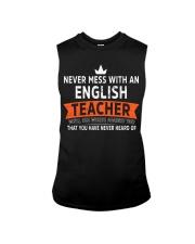 Never mess with an English Teacher Sleeveless Tee thumbnail