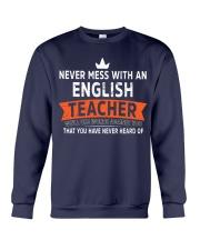Never mess with an English Teacher Crewneck Sweatshirt thumbnail