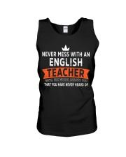 Never mess with an English Teacher Unisex Tank thumbnail
