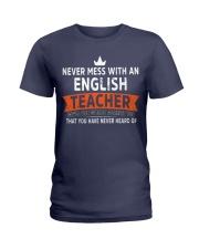 Never mess with an English Teacher Ladies T-Shirt thumbnail