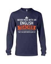 Never mess with an English Teacher Long Sleeve Tee thumbnail