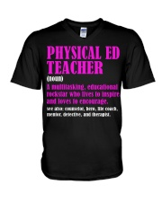 Physical Ed Teacher V-Neck T-Shirt thumbnail