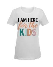 I am here for the kids Ladies T-Shirt women-premium-crewneck-shirt-front
