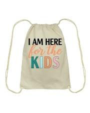 I am here for the kids Drawstring Bag thumbnail