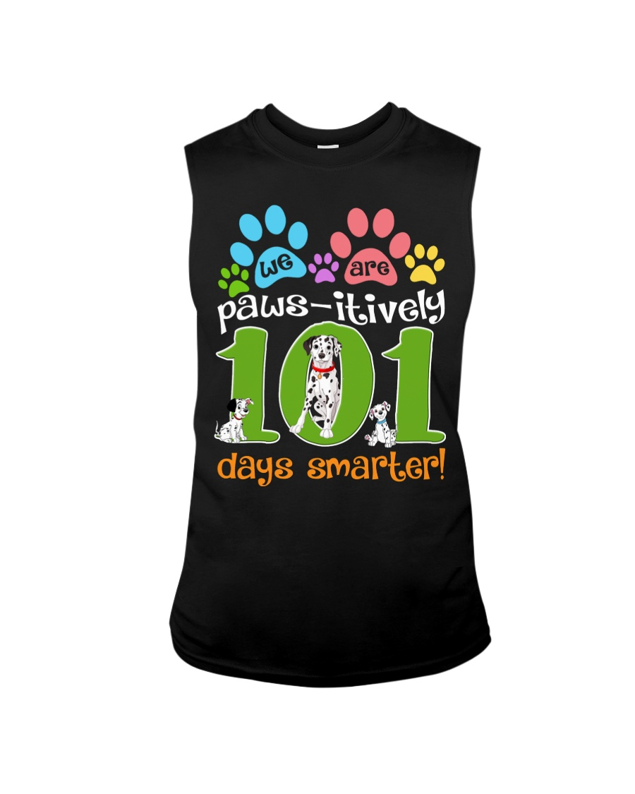 WE ARE PAWS-ITIVELY 101 DAYS SMARTER Sleeveless Tee