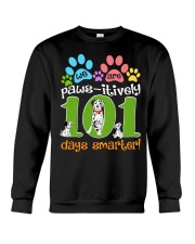 WE ARE PAWS-ITIVELY 101 DAYS SMARTER Crewneck Sweatshirt thumbnail