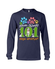 WE ARE PAWS-ITIVELY 101 DAYS SMARTER Long Sleeve Tee thumbnail
