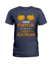 Perfect For Electrician Halloween Ladies T-Shirt thumbnail