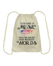 God Gave US MUSIC Drawstring Bag thumbnail