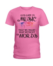 God Gave US MUSIC Ladies T-Shirt thumbnail