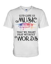 God Gave US MUSIC V-Neck T-Shirt thumbnail